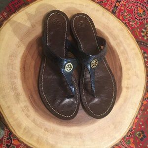 Tory Burch Flip Flops Leather Thora 9